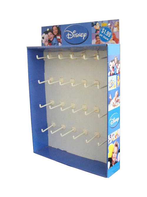 Promotion Display with Plastic Hooks